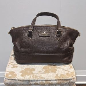 Brown Pebbled Leather Kate Spade Satchel